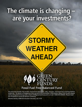 advertisement sample: Green Century Funds