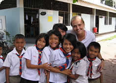 photo of Thai schoolkids and a teacher